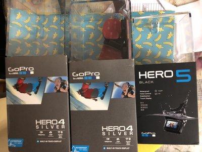 全新 GOPRO HERO5 4 BLACK SILVER camera 電池 配件 REMOTE 防水殼 鏡頭 IPHONE