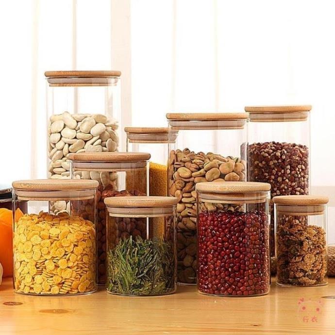 廚房收納盒密封罐玻璃瓶子食品帶蓋大號家用儲物罐透明有蓋宜家奶粉防潮茶葉XW海淘吧/海淘吧/最低價DFS0564