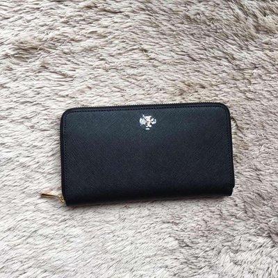 薇薇代購 美國正品 Tory burch ROBINSON 187 荔枝紋皮 手拿包 零錢包 錢夾 黑色 多色可選