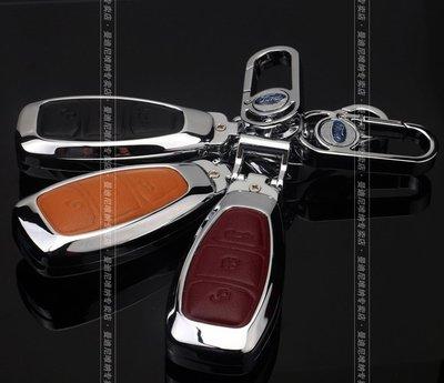 Ford福特MONDEO FOCUS ST FIESTA ST ECOSPORT MK3/4金屬鑰匙殼 鑰匙包  鑰匙套