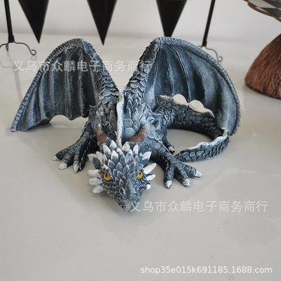 大蹲龍雕塑 Great Squat Dragon 守衛花園桌面擺件樹脂工藝品小豬佩奇
