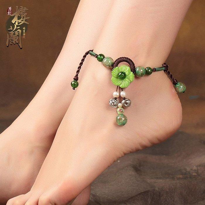 復古民族 風腳鏈夏 季加長吊 墜足鏈貝 殼花朵小 清新腳飾 品女