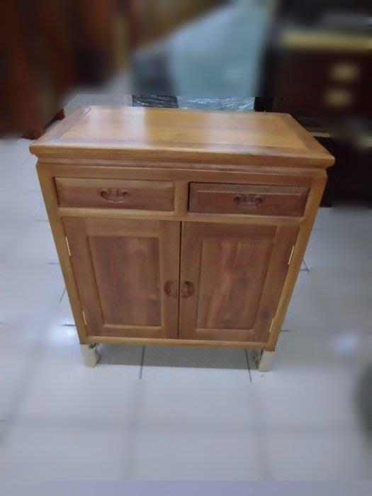 新竹二手傢俱買賣百豐悅-全新全實木餐櫃 碗盤櫥櫃 客廳邊櫃 二門二抽置物櫃 收納櫃 置物櫃 二手家具買賣二手家電買賣