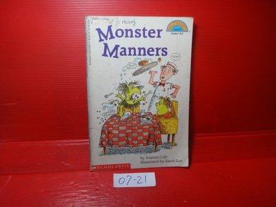 【愛悅二手書坊 07-21】Monster manners