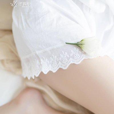 HH靴下物打底內褲女夏季超薄純棉安全褲可外穿性感蕾絲防走光平角褲        【現貨】HH