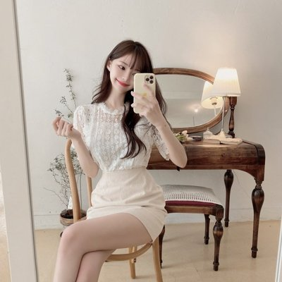 【ZEU'S】夏日甜美蕾絲上衣『 05120611 』【現+預】E