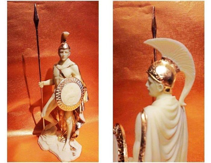 居家藝術~[  設計作品 希臘羅馬神話系列-愛力士 Ares Mars ]-馬爾斯-猛男戰神-雕像.貼金箔膜片