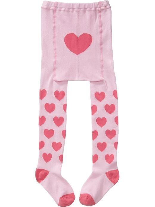 【Nichole's歐美進口優質童裝】Old navy 女童針織粉色愛心秋冬保暖褲襪 *Carter's/OshKosh