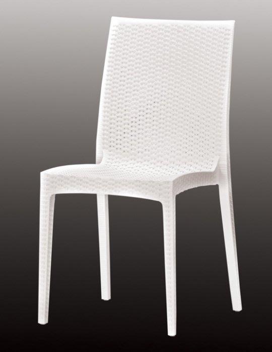 【DH】商品編號G1029-7亞妮休閒椅/白色(圖一)備咖啡色餐椅。居家/休閒/工商/營業用。多方位使用。主要地區免運費