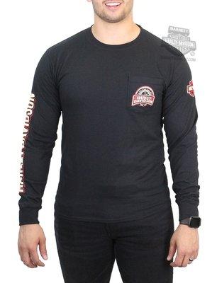 Harley-Davidson 哈雷機車 長袖T恤 口袋T Speedometer II 黑色 XL 有大尺碼