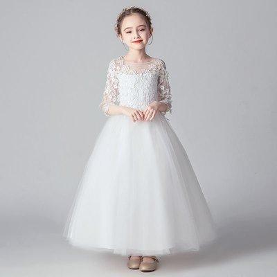 baby秀童裝禮服店 鋼琴兒童禮服公主裙女童蓬蓬裙花童禮服裙主持人童裙演出服童裙