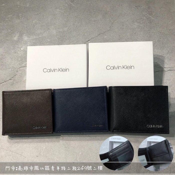 【現貨】 Calvin Klein 短夾相片格+6卡+零錢袋禮盒組 防刮進口皮革 保證正品 歡迎來店參觀選購