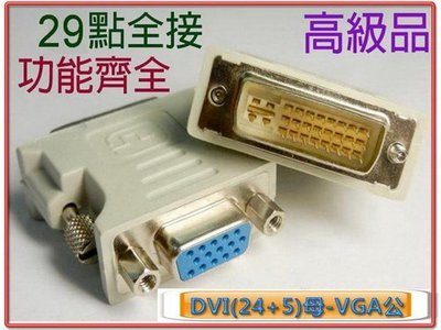 ╠機殼天堂╣DVI-I 29公-VGA15母轉接頭 HDG-1 強化型13腳位