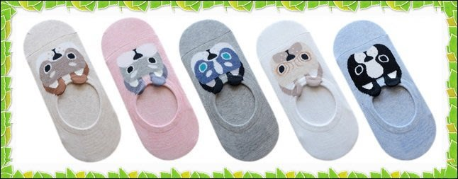 ♥Pinkの寶舖♥韓國 夏天 夏季 新款小狗 可愛 隱形襪 船襪 短襪 立體小耳朵狗狗全棉襪套 五款 現貨 特價$42