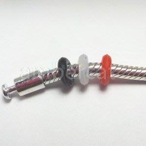 琥珀貓銀飾DIY【塑膠材料配件】矽膠定位珠, 定位扣, 固定珠, 固定扣~A1039~孔2mm~潘朵拉適用~一組4個