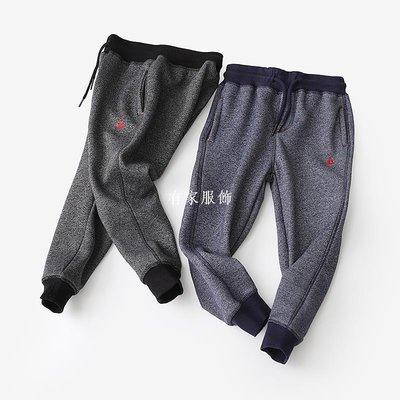 有家服飾一體成絨工藝 男童針織加絨運動褲 中大童兒童秋冬加厚長褲  新