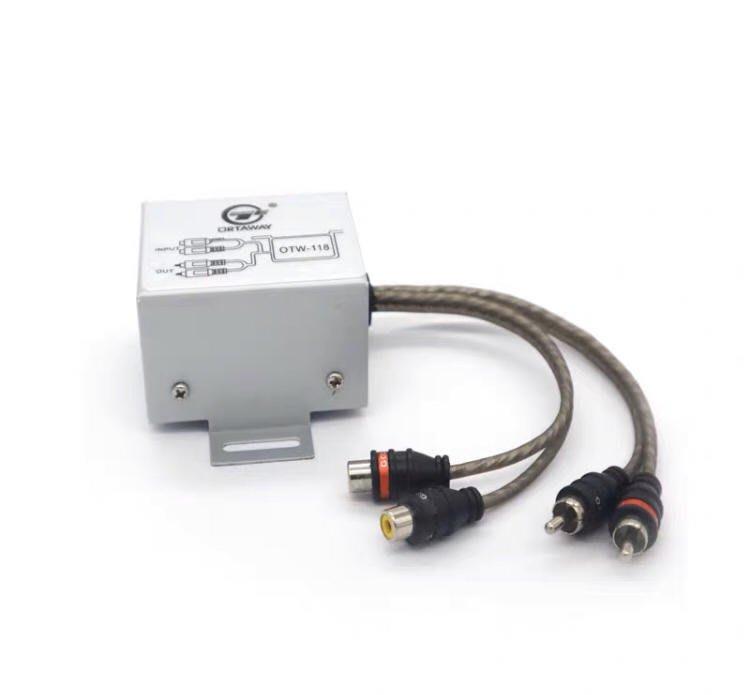 現貨音頻濾波器 消除汽車音響重低音擴大機等引起的雜音干擾電流聲急用勿選超商取貨5-7天