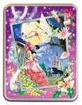 日本進口拼圖專賣店_迪士尼500片_米奇 米妮 月夜的小夜曲 鐵盒 41-96