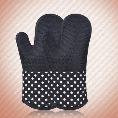 耐高溫300度 一雙 商用微波爐烘烤 烤箱防燙加厚烘培隔熱硅膠手套特惠免運