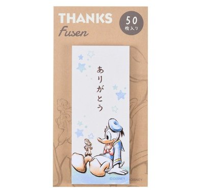 天使熊雜貨小舖~日本帶回迪士尼唐老鴨&奇奇蒂蒂便條紙 50枚入   全新現貨
