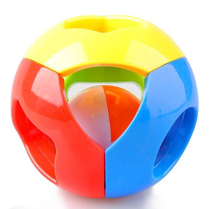 預售款-LKXD-貝樂康五彩感官球鈴鐺球嬰兒手抓球寶寶玩具兒童益智叮當球0-1歲