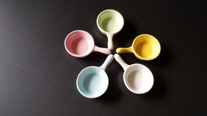 【無敵餐具】陶瓷彩色醬料碟(7x5cm)5色 醬料杯/醬汁/甜點盅/焗烤盅 量多可詢價【A0390】