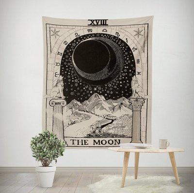 星象掛毯-星星 月亮裝飾掛毯 牆壁掛布 背景布 客廳 臥室 書房掛畫(130x150cm)_☆找好物FINDGOODS☆