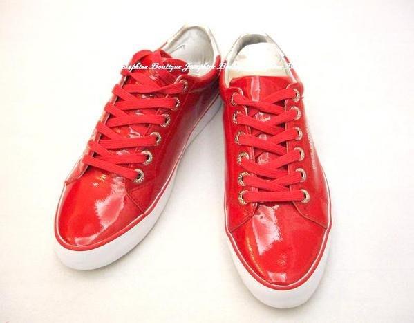 喬瑟芬【DOLCE&GABBANA】 小羊皮亮紅漆皮休閒鞋~全新真品!下殺清倉!