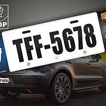 【STREET PARK】訂製 歐盟 Porsche 車系 Macan 車牌裝飾【原價780$ 特價 580$】