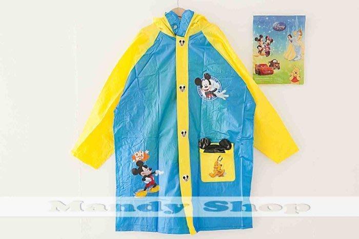 mandyshop【M2835】㊣ Disney迪士尼 / 米奇兒童雨衣/書包型雨衣