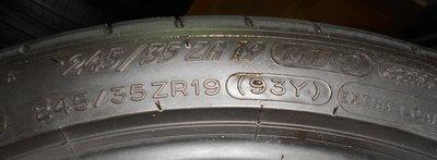 machine輪胎米其林PSS 245/35/19每條1800元只有4條