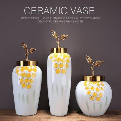 〖洋碼頭〗新中式家居陶瓷花瓶仿真花藝套裝擺件歐式客廳跳舞蘭裝飾品玄關 ysh530