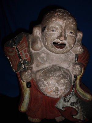 大轟雷室// 日本福神..布袋和尚立姿招福招財法像