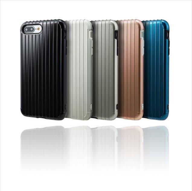 Gramas 日本東京 抗衝擊行李箱 iPhone 7/8 Plus 經典手機殼 【贈送日本AGC鋼化玻璃】