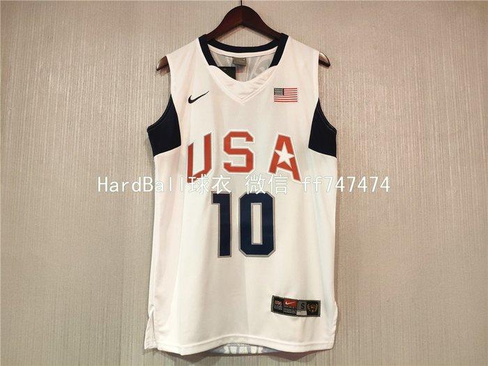 柯比·布萊恩 (Kobe Bryant) NBA世界盃美國夢幻隊 10號 球衣 白色