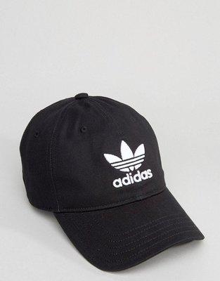 美國百分百【全新真品】Adidas 愛迪達 三葉草 配件 帽子 棒球帽 遮陽帽 運動 電繡 logo 黑色 I194