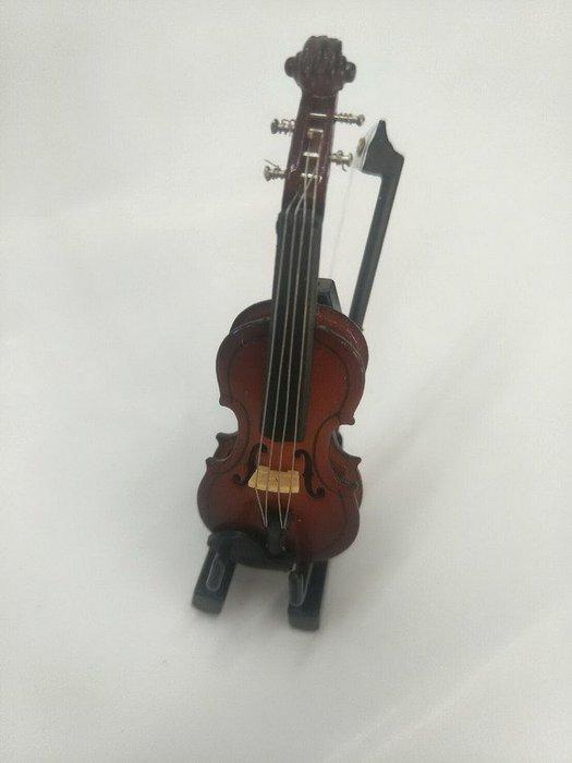 ╰☆美弦樂器☆╯【迷你7cm小提琴模型】精品樂器模型 仿真 袖珍樂器 收藏擺飾 禮物送禮