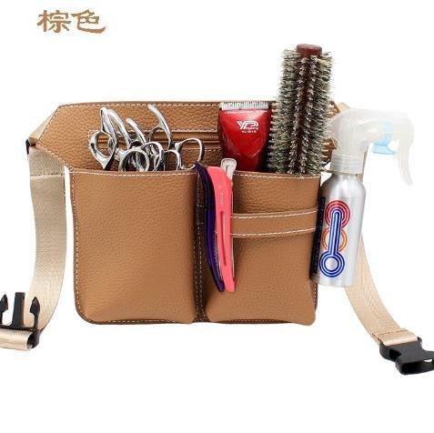荔枝紋高級PU美發工具剪刀包剪刀腰包發型師美容師腰包