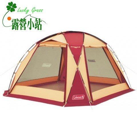 露營小站~65折特價【CM-27291】日本 Coleman 圓頂網屋/380 勃根地
