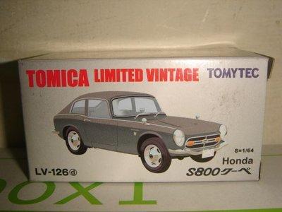 1風火輪美捷輪多美TOMICA TOMYTEC 1:64合金車LV-126D喜美本田Honda S800跑車五佰一元起標