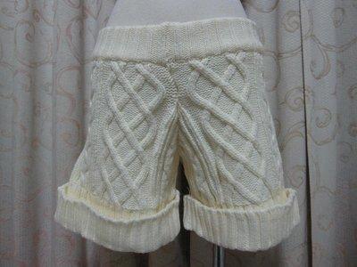 PEACE DOVE 毛線反摺針織短褲~C60