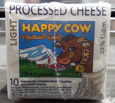美兒小舖COSTCO好市多代購~HAPPY COW 快樂牛 低脂切片乾酪(200gx6小包)