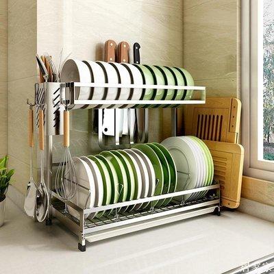 精選 304不銹鋼碗碟瀝水架家用放碗架 筷子筒盤子收納廚房置物架瀝碗籃