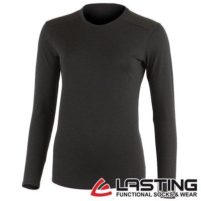 丹大戶外用品【LASTING】歐都納 女款長袖羊毛T恤 LT-LADA 黑