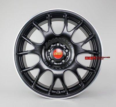 【田中輪胎館】類B牌 CH 網狀 新款18吋 5X112 鋁圈樣式 8J ET45 消光黑車邊