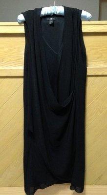☆☆正式場合婚禮必備/瑞典H&M 黑色維納斯雪紡紗抓皺背心裙☆☆