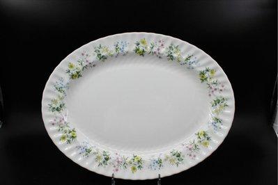 MINTON Spring Valley英國骨瓷 瓷器大餐盤(B.13)