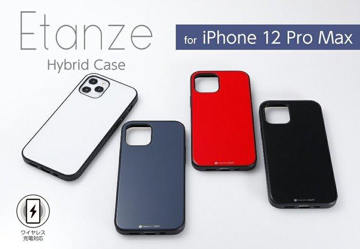 日本Deff Apple iPhone 12 ProMax Etanze玻璃+PC+TPU三材質保護殼IPE20L