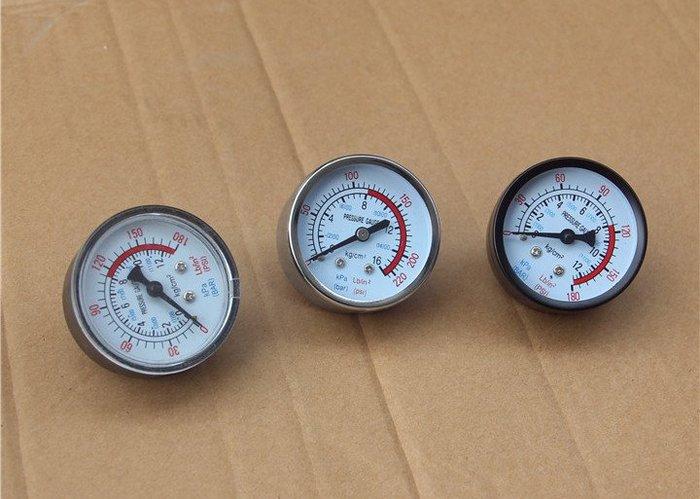 精品鍍鉻壓力錶 奧突斯捷豹空壓機氣泵配件 精品壓力錶頭Y50臥式 電鍍 2分壓力表