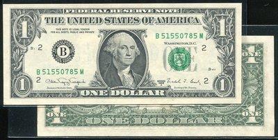 United States(美國紙幣), P480 ,1-Dollar ,1988,品相95新AU+ 國際#19051049